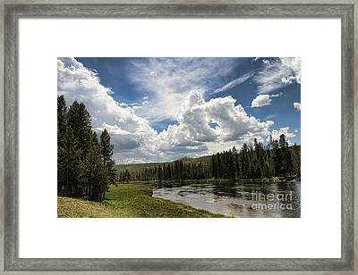 Blue Sky In Yellowstone Framed Print