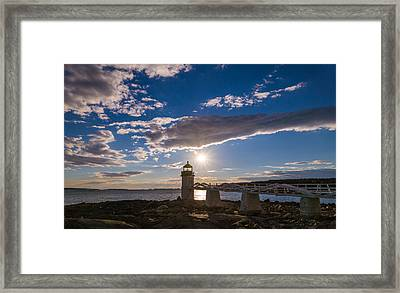 Blue Sky Light Framed Print by Kristopher Schoenleber