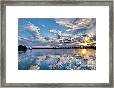 Blue Sky Sunset Framed Print