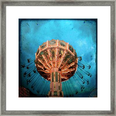 Blue Sky Swings Framed Print by Gothicrow Images