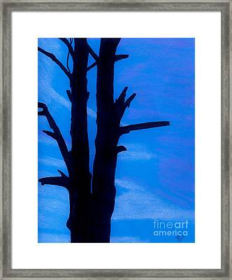 Framed Print featuring the drawing Blue Sky Tree by D Hackett