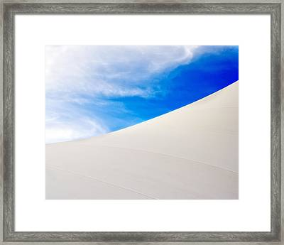 Blue Sky White Canvas Framed Print by Kevin Anderson