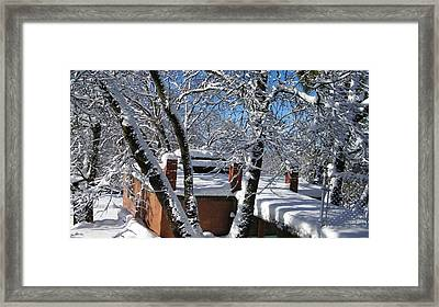 Blue Sky-white Snow Framed Print