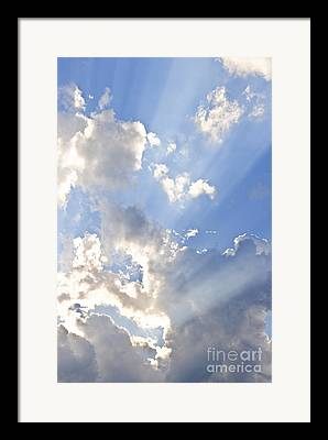 Clear Blue Sky Framed Prints
