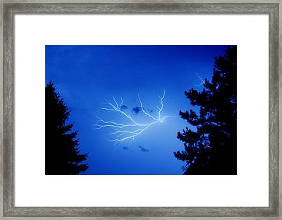 Blue Skylight Framed Print by Diane Reed