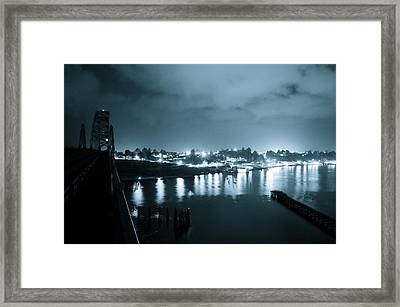 Blue Skys And City Lights Framed Print by Sheldon Blackwell