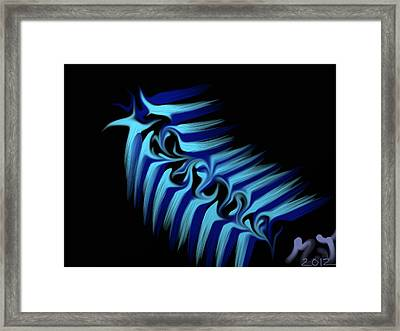 Blue Slug Framed Print by Michael Jordan