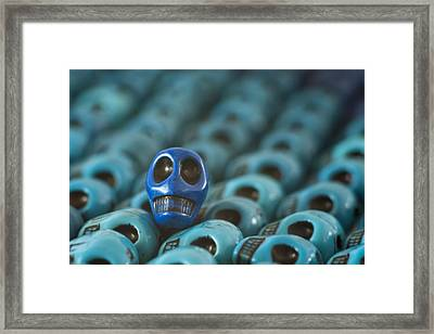 Blue Smile Framed Print by Mike Herdering