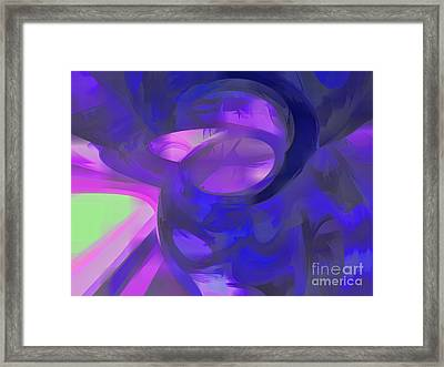 Blue Smoke Pastel Abstract Framed Print by Alexander Butler