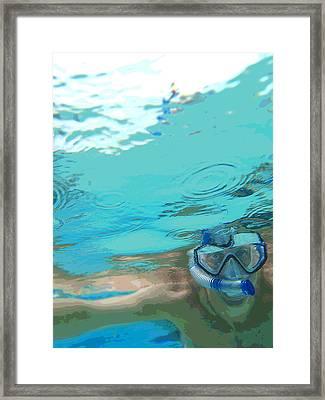 Blue Snorkel Framed Print