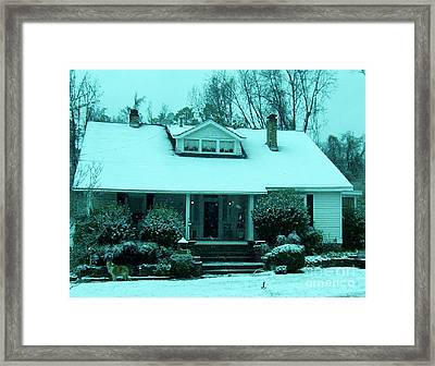 Blue Snow  Framed Print by Eloise Schneider