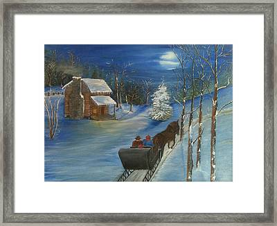 Blue Snow Framed Print