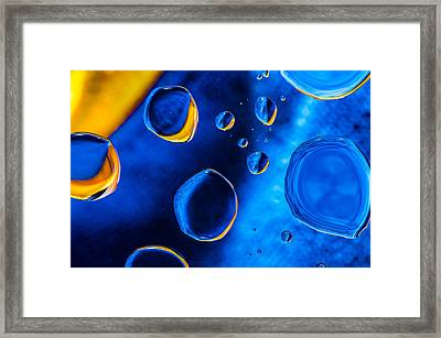 Blue Space Ice Framed Print