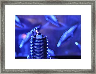 Blue Spark Framed Print