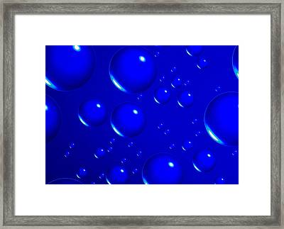 Blue Sphere-abstract Framed Print by Tom Druin