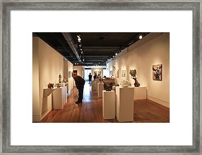 Blue Spiral Gallery In Asheville Framed Print