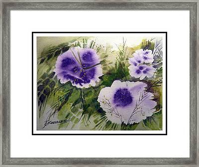 Blue Splender Framed Print
