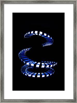 Blue Staircase Framed Print by Lefebvre Alexandre