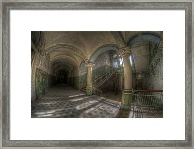 Blue Staircase Of Beauty Framed Print by Nathan Wright