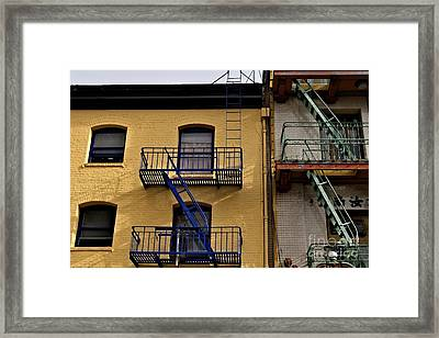 Framed Print featuring the photograph Blue Stairs Green Stairs  by Sherry Davis