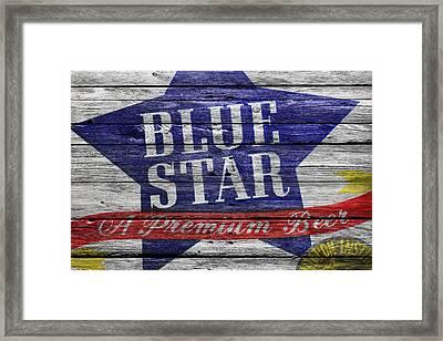 Blue Star Framed Print by Joe Hamilton