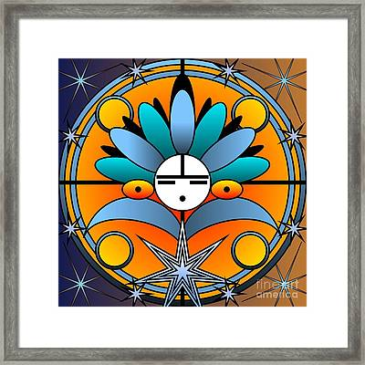Blue Star Kachina 2012 Framed Print
