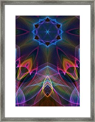 Blue Star Framed Print