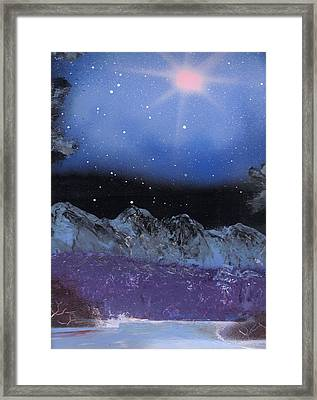 Blue Stars Night Framed Print by Marc Chambers