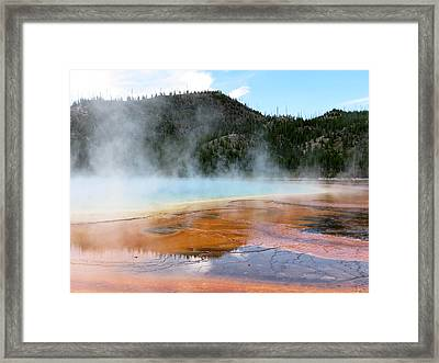 Framed Print featuring the photograph Blue Steam by Laurel Powell