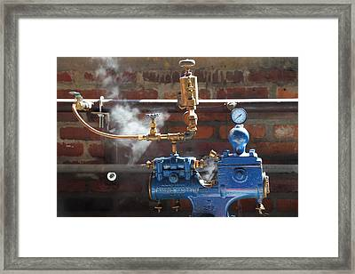 Blue Steam Machine Framed Print
