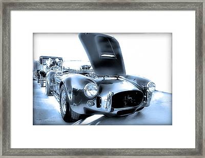 Framed Print featuring the photograph Blue Steel by Dyle   Warren