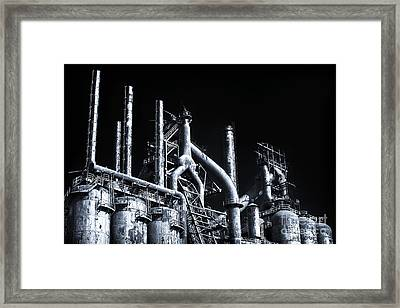 Blue Steel Framed Print by John Rizzuto
