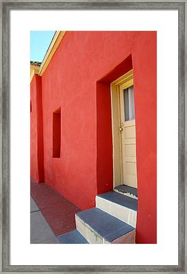 Framed Print featuring the photograph Blue Steps by Brenda Pressnall
