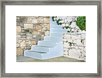Blue Steps Framed Print by Tom Gowanlock