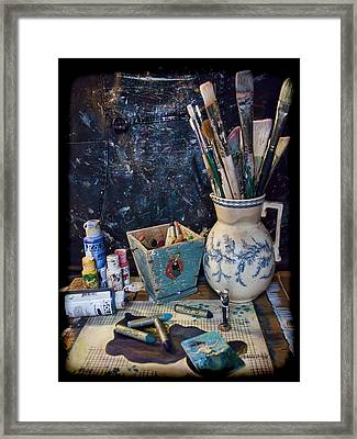 Blue Still Life Framed Print by Bellesouth Studio