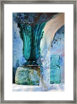 Blue Still Life Flow Framed Print by John Fish