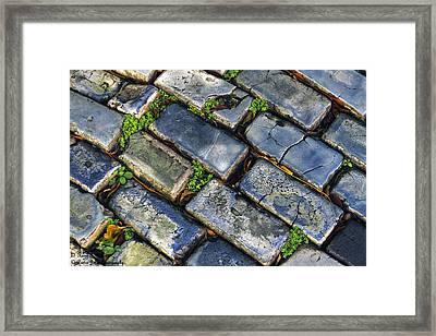 Blue Stone  Framed Print