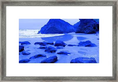 Blue Stones Framed Print