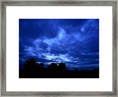 Blue Storm Rising Framed Print