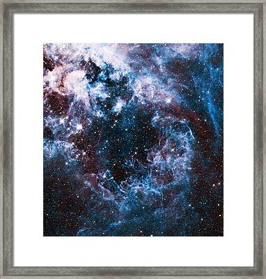 Blue Storm  Framed Print by The  Vault - Jennifer Rondinelli Reilly