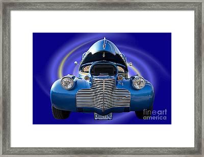 Blue Streetrod Framed Print