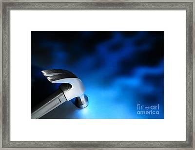 Blue Strike Framed Print by Olivier Le Queinec