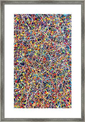 Blue String Theory Framed Print by Patrick OLeary
