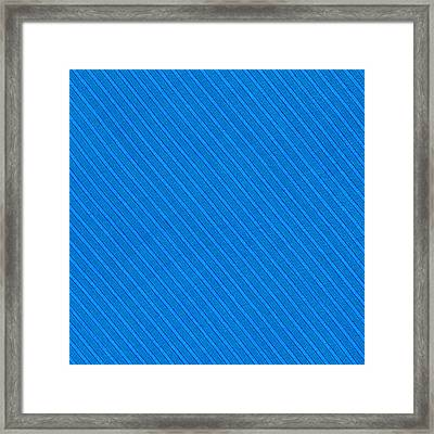 Blue Striped Diagonal Textile Background Framed Print