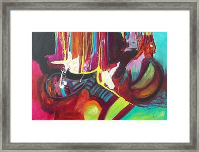 Blue Stripes Framed Print
