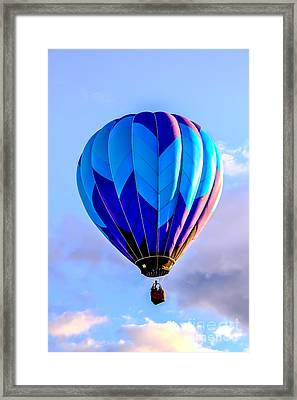 Blue Stripped  Balloon Framed Print by Robert Bales