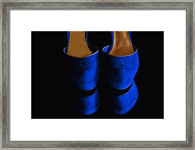Blue Suede Shoes Framed Print