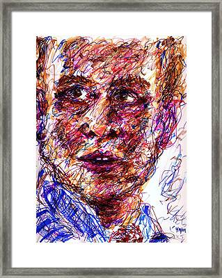 Blue Suit Framed Print