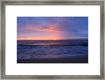 Blue Sunrise Framed Print by Ange Sylvestri