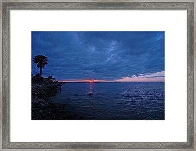 Blue Sunrise Framed Print